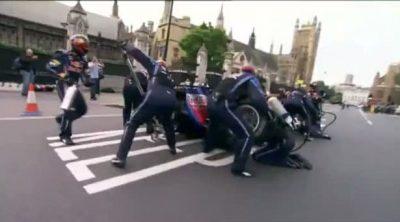 Webber hace un 'pit-stop' bajo el Big Ben