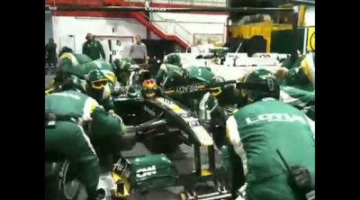 'Pit-stop' en la factoría de Lotus