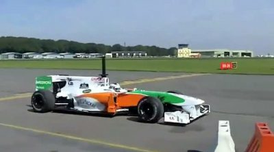 Test aerodinámico de Force India en Kemble