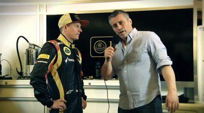 Kimi Räikkönen y Matt LeBlanc nos dan ¿pistas? sobre el nuevo Lotus E21
