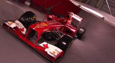 El Ferrari F138 de 2013 posa ante las cámaras
