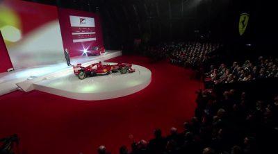 Luca di Montezemolo en la presentación del Ferrari F138