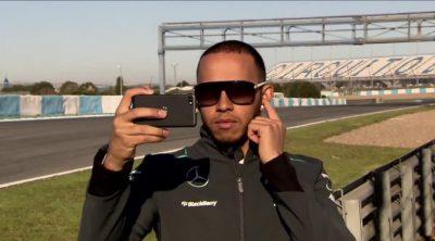 Lewis Hamilton y Mercedes presentan el nuevo patrocinio de BlackBerry