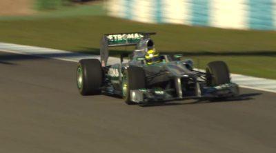 Nico Rosberg estrenó el Mercedes W04 en el circuito de Jerez