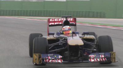 El nuevo Toro Rosso STR8 rueda por el asfalto por primera vez