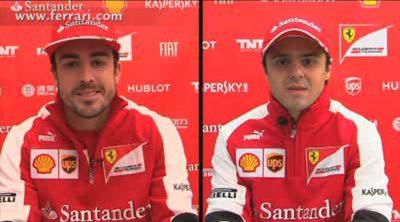 Entrevista a dos: Fernando Alonso y Felipe Massa