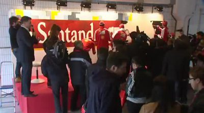Time lapse del mural del Banco Santander y Ferrari