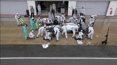 Mercedes nos muestra todos los detalles de sus 'pitstops'