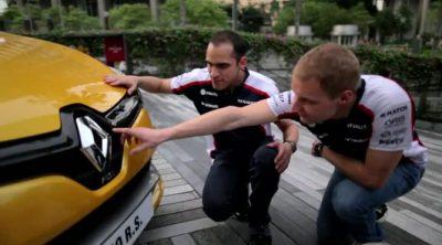 Pastor Maldonado y Valtteri Bottas prueban el nuevo Clio 4 RS