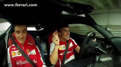 Fernando Alonso, incapaz de contenerse al volante de LaFerrari
