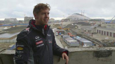 Sebastian Vettel y Red Bull visitan la construcción del circuito de Sochi