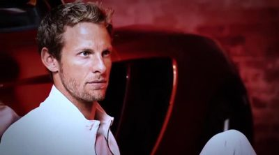 Sesión de fotos de Jenson Button para Hugo Boss