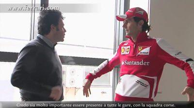 Pedro de la Rosa explica su trabajo en Maranello
