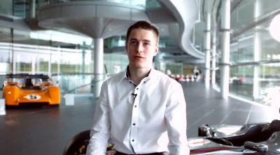 McLaren presenta a Stoffel Vandoorne, miembro de su programa de jóvenes pilotos