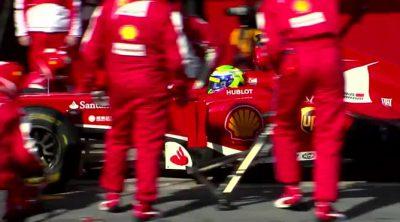 Dentro del Gran Premio de España 2013 con Ferrari