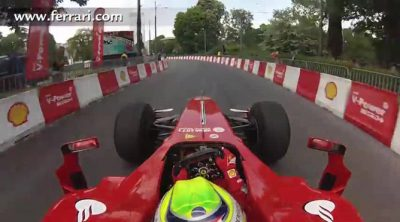 'On board' con Felipe Massa por las calles de Varsovia