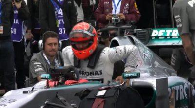 Michael Schumacher rodando con el Mercedes W02 en el Nordschleife