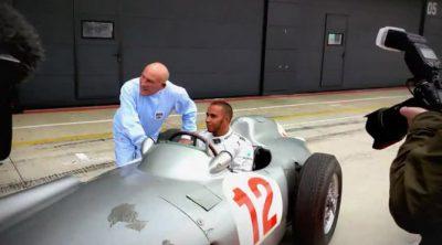 Lewis Hamilton se reúne con Stirling Moss como previo al GP de Gran Bretaña