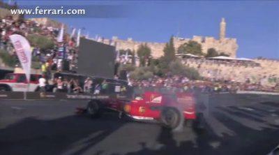 60.000 personas vibraron con la exhibición de Ferrari en Jerusalén