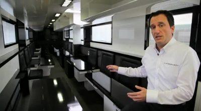 Caterham nos muestra los detalles de un camión de Gran Premio