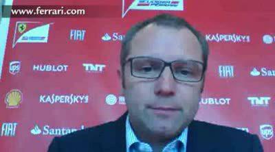 Videochat de Stefano Domenicali antes del GP de Gran Bretaña 2013