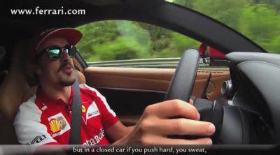Fernando Alonso da una vuelta al viejo Nürburgring con un Ferrari F12