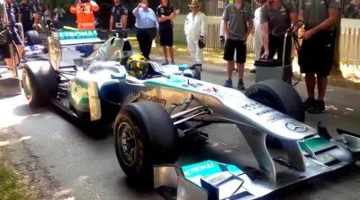 Lewis Hamilton, protagonista del Festival de Goodwood 2013