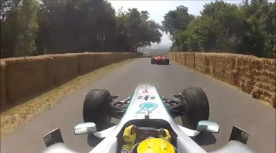 'On board' con Nico Rosberg en Goodwood 2013