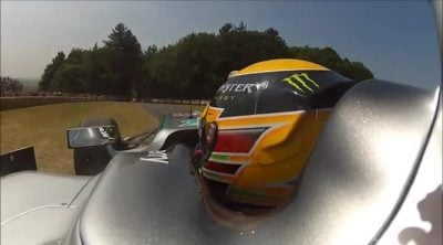 'On board' con Lewis Hamilton en Goodwood 2013