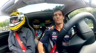 Mark Webber visita el Lardy Technical Center de Renault