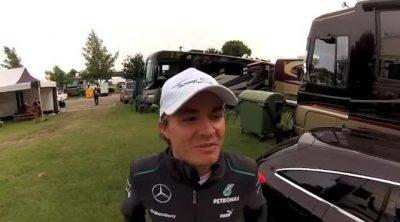 Nico Rosberg habla de su triunfo en el Gran Premio de Gran Bretaña 2013