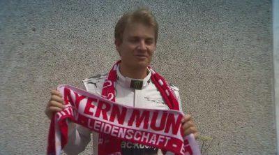 Nico Rosberg muestra su especial apoyo al Bayern de Munich