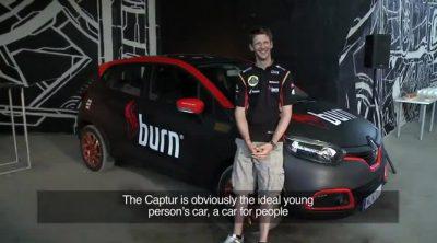 Romain Grosjean presenta el nuevo Renault Captur en Budapest