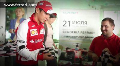 Así se divirtieron los fans de Ferrari en Moscú