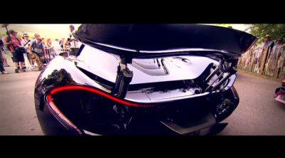 Jenson Button probó el nuevo McLaren P1 en Goodwood