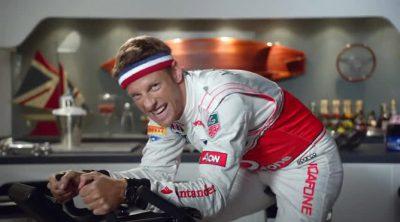 Jenson Button vs. Tony Stewart: bicicleta estática