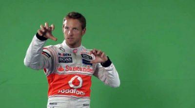 Así se hizo el sórdido anuncio de Jenson Button y el Santander