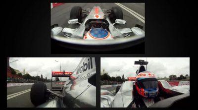 A bordo del McLaren de Jenson Button en Moscú