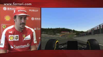 Una vuelta a Spa con Fernando Alonso