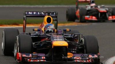 Sebastian Vettel se reivindicó marcando la vuelta rápida en el GP de Bélgica 2013