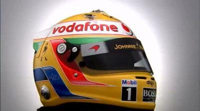 El casco de Lewis Hamilton