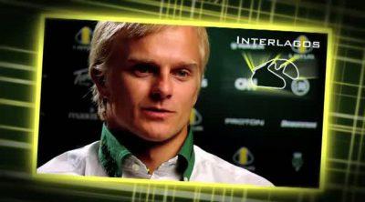 Entrevista a Kovalainen antes de la carrera de Interlagos