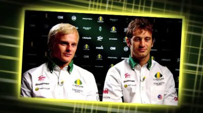 Entrevista a Trulli y Kovalainen antes de la carrera de Yas Marina
