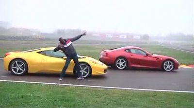 Usain Bolt de visita en el circuito de Fiorano