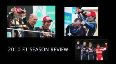 Vettel, Webber y Horner resumen la temporada 2010 de Red Bull