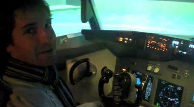 Una lección de vuelo con Timo Glock