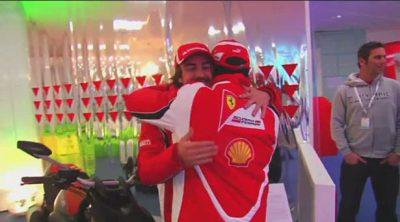 Los pilotos de Ferrari llegan a Madonna di Campiglio
