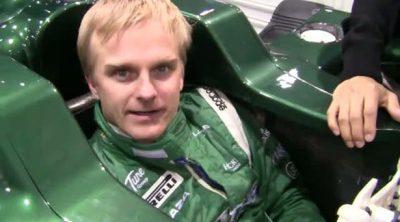 Heikki Kovalainen prueba el asiento del T128