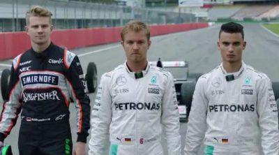 Poder Mercedes: Alemania regresa a la F1 con Rosberg, Hülkenberg y Wehrlein