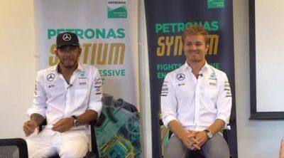 ¿Qué pensaban Lewis Hamilton y Nico Rosberg al llegar a Malasia?